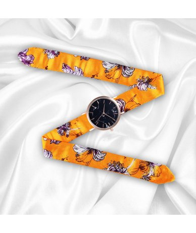 MONTRE ORANGE AUTOMNE GOLD