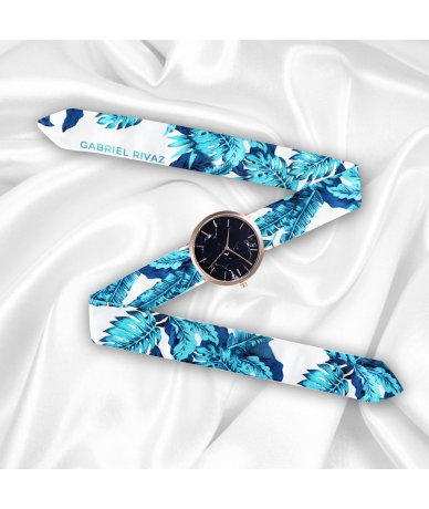 RELOJ TURQUESA TROPICAL GOLD