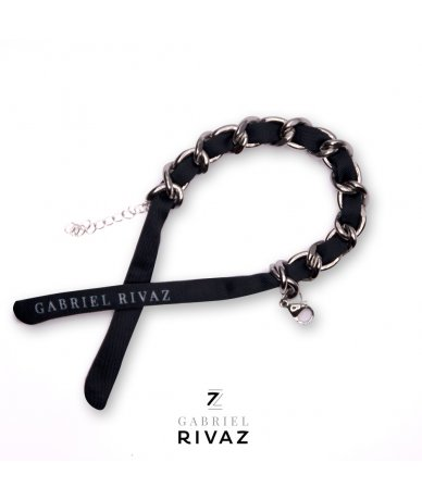 Black Chain Bracelet silk...