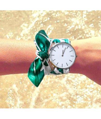 Bracelet montre femme soie