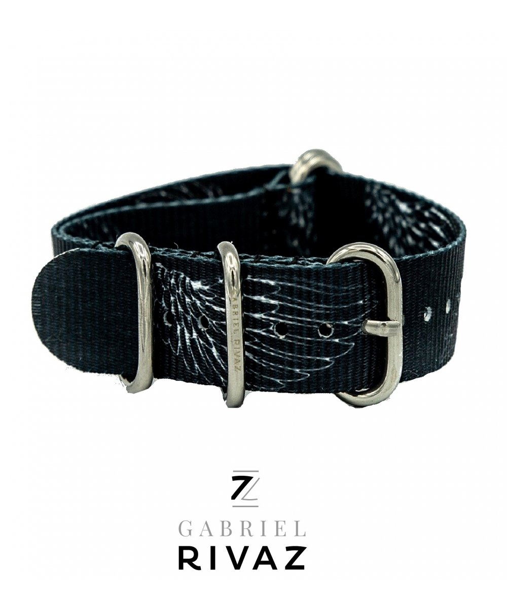 Bracelet montre nato ailes rock
